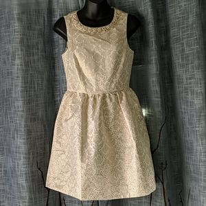 Romeo + Juliet Couture Gold Embellished Dress